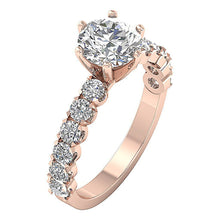 Load image into Gallery viewer, Accent Solitaire Wedding Natural Diamond Ring I1 G 2.50 Ct 14k White Yellow Rose Gold
