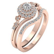 Load image into Gallery viewer, 14K Rose Gold Natural Diamond Prong Set Designer Ring-DCR113-0.75CT