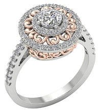 Load image into Gallery viewer, Designer Solitaire Engagement Ring 14K Gold-SR-927-5