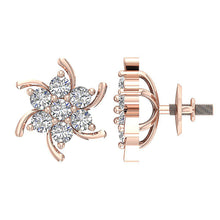 Load image into Gallery viewer, Genuine Diamond Earring Set 14k Rose Gold