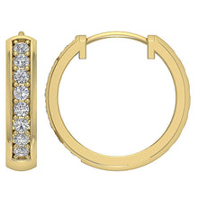 Load image into Gallery viewer, 14k Yellow Gold Natural Diamond Earring Set