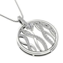 Load image into Gallery viewer, 14k White Gold Designer Unique Pendant