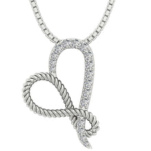 Load image into Gallery viewer, 14k White Gold Designer Antique Pendant
