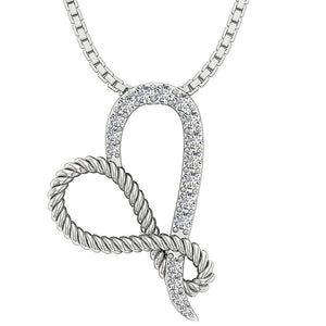 14k White Gold Designer Antique Pendant