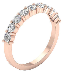 SI1 G 1.10 Ct Natural Diamond Prong Set 14K White Yellow Rose Gold Anniversary Ring 3.10MM