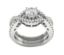Load image into Gallery viewer, 14k White Gold Bridal Ring Set