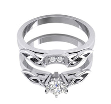 Load image into Gallery viewer, 14k White Gold Genuine Diamond Bridal Ring Set