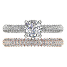Load image into Gallery viewer, Top View Genuine Diamond Bridal Ring Set