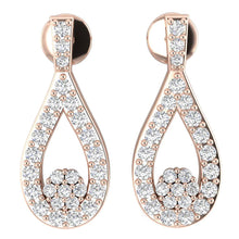 Load image into Gallery viewer, Genuine Diamond Chandelier Earring Set 14k Gold