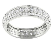 Load image into Gallery viewer, 14k Solid Gold Genuine Diamond Eternity Ring