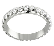 Load image into Gallery viewer, 14k Gold Genuine Diamond Eternity Ring Set