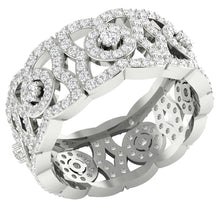 Load image into Gallery viewer, 14k White Gold Genuine Diamond Eternity Ring Set