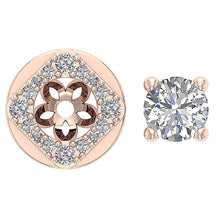 Load image into Gallery viewer, Removeble Jacket Round Cut Diamonds Earrings-DE170