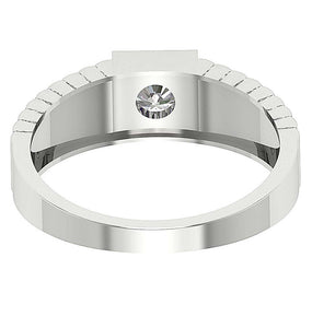 Round Diamond White Gold Ring-MR-78
