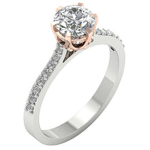 Load image into Gallery viewer, Round Diamond Engagement Ring Prong Set-DSR472