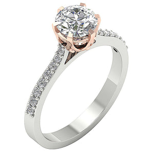 Round Diamond Engagement Ring Prong Set-DSR472