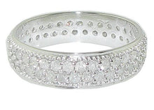 Load image into Gallery viewer, Pave Set Diamond Eternity Anniversary Ring Top View-ETR-138-3