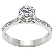 Load image into Gallery viewer, Round Diamond Ring White Gold-DSR472