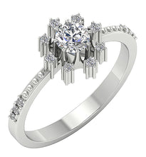 Load image into Gallery viewer, Round Diamond Ring White Gold Ring-DSR646