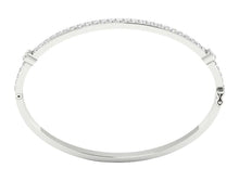 Load image into Gallery viewer, 14k White Gold Prong Set And Bezel Set Bangles-DBR25