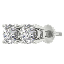 Load image into Gallery viewer, Natural Round Diamond Solitaire Stud Earring I1 G 2.10 Ct 14k Solid Gold
