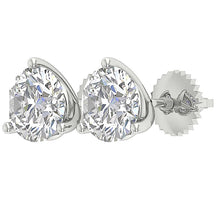 Load image into Gallery viewer, Round Cut Diamond Gold Earring Anniversary's Gift-E-435-2.10-9