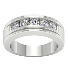 Load image into Gallery viewer, White Gold Round Diamond Ring-DMR5