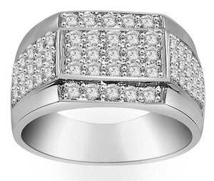 White Gold Diamond Ring-MR-15