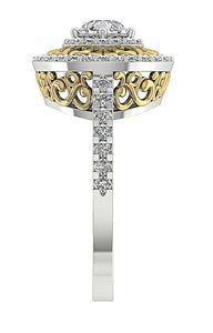 Side View Vintahe Solitaire Anniversary Ring-SR-927-13