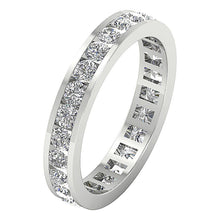 Load image into Gallery viewer, White Gold Eternity Stackable Ring ladies ring -DETR172-2