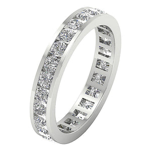 White Gold Eternity Stackable Ring ladies ring -DETR172-2