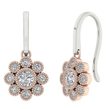 Load image into Gallery viewer, Rose Gold Halo Earrings-DE108