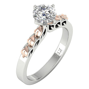 14K Yellow Gold Solitaire Natural Diamond Designer Anniversary Ring I1 G 1.10 Ct 4 Prong Set 7.80MM