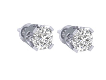 Load image into Gallery viewer, 14k-18k Solid Gold Solitaire Studs Earring Gift-DST1-0.40-4
