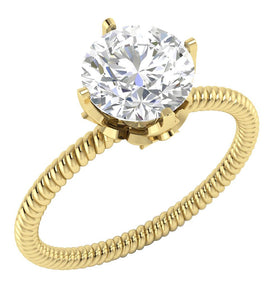 Solitaire Natural Diamond Designer Wedding Ring I1 G 1.10 Ct 14K Solid Gold 4 Prong Set 7.50MM