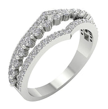 Load image into Gallery viewer, Split Shank Designer Anniversary Ring 0.80 ct Natural Diamond 14k Gold