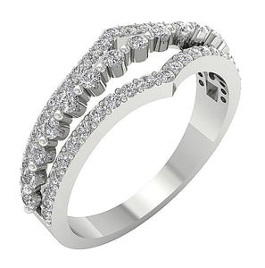 Natural Diamond Gold Band Prong Setting