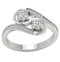 Load image into Gallery viewer, TopViewRoundCutDiamondRing-SR-1186