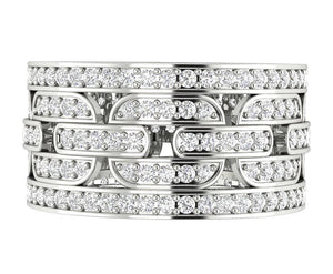 Natural Diamond Eternity Ring 14k Gold
