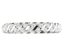 Load image into Gallery viewer, 14k White Gold Genuine Diamond Eternity Ring