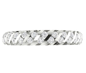 14k White Gold Genuine Diamond Eternity Ring