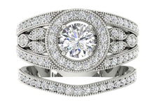Load image into Gallery viewer, Designer Halo Engagement Ring Round Cut Diamond I1 G 1.75 Ct