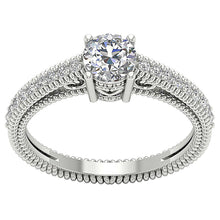 Load image into Gallery viewer, Top View Engagement Ring 14K Whit gold-DSR481