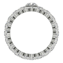 Load image into Gallery viewer, Natural Diamond Triple Band Ring Front View-CR-194