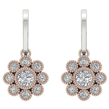 Load image into Gallery viewer, Halo Bezel Set Earrings-DE108