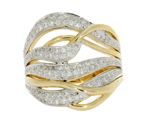 14K Two Tone Gold Designer Right hand Ring-DRHR1