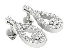 Load image into Gallery viewer, Chandelier Earring Set 14k White Gold