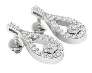 Chandelier Earring Set 14k White Gold