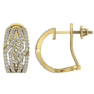 14k Yellow Gold Large Hoop Earring Set