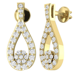 14k Yellow Gold Vintage Chandelier Earring